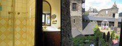 Small single room with shower, view to the courtyard