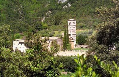 Ferentillo (Spoleto - 27 km):Abbazia San Pietro in Valle
